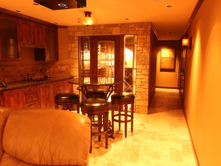 Complete basement with theater, kitchen and wine cellar